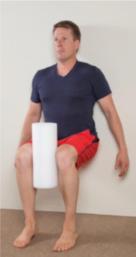 Telemedicine Guide: A Low Back Pain Case Study — Wall Sit Foam Roll Exercise | SPORTSMEDICINEACUPUNCTURE.COM